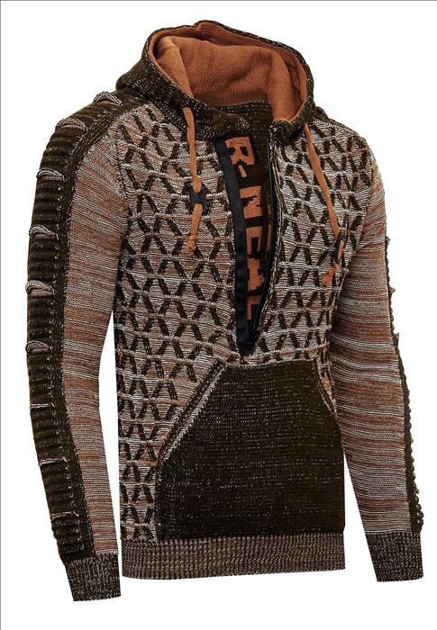 Trui Hoodie Winter Rusty Neal Italia Mode Camel