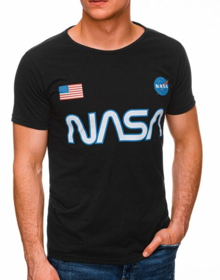 t-shirt heren zwart nasa