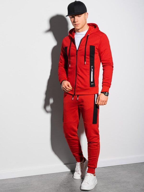 heren joggingpak rood ombre z25