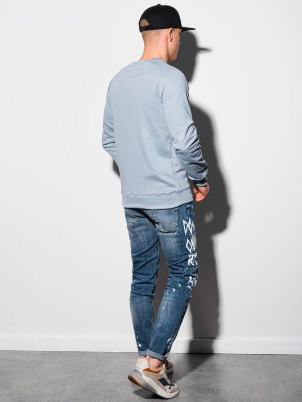 heren sweater lichtblauw