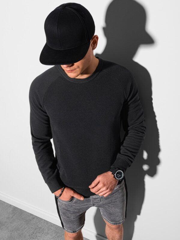 heren sweater b1156 zwart