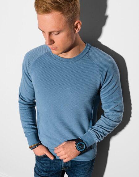 heren sweater denim blauw b1156