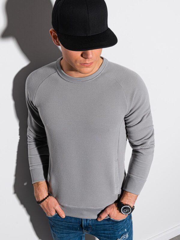 heren sweater b1156 grijs