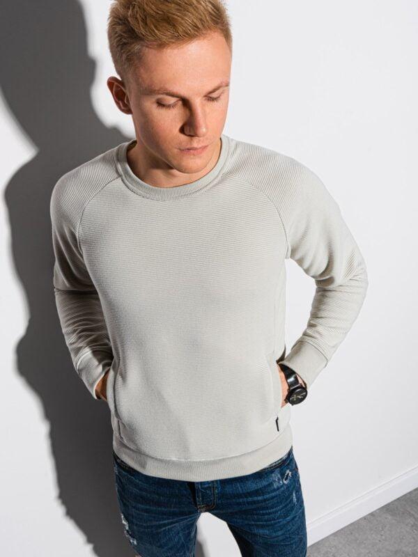 heren sweater b1156 lichtgrijs