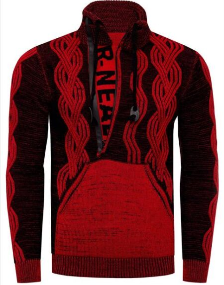 heren trui roodzwart