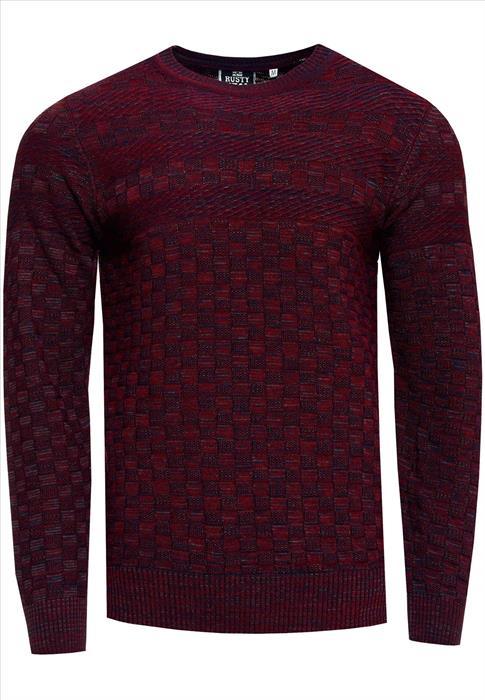 heren trui rusty neal rood
