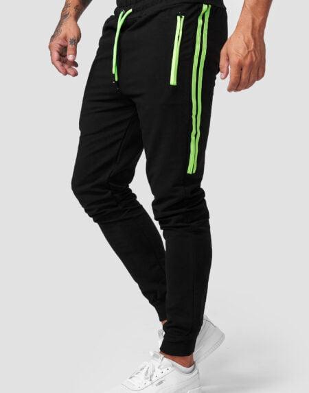 heren joggingbroek zwart gr1641